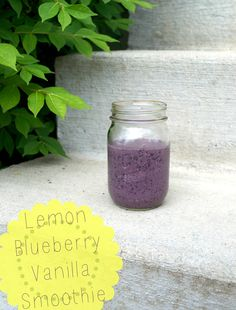 Lemon Blueberry Vanilla Smoothie - DIY Life After College