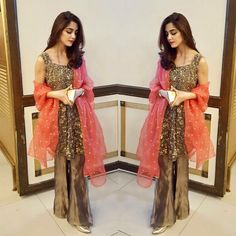 #mayaali looks gorgeous wearing this beautiful 3D work peplum from @mohsin.naveed.ranjha 's amazing collection. ✨#MNR #mayaali #mohsinnaveedranjha #pakistaniweddings