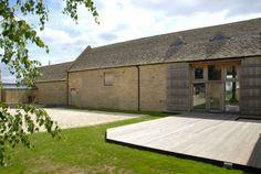 Scheunenumbau Gloucestershire england wohnhaus holzdeck