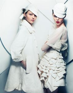 Sasha Pivovarova & Coco Rocha by Craig McDean for Vogue Japan, February 2007