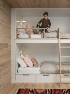 Youngsters Bedroom Furnishings – Bunk Beds for Kids Bunk Bed Rooms, Girls Bunk Beds, Bunk Beds Built In, Modern Bunk Beds, Bunk Beds With Stairs, Kid Beds, Built In Beds For Kids, Bunk Bed Ideas For Small Rooms, Small Bunk Beds