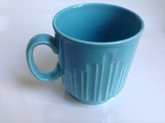 Vintage Royal Alma Blue Mug, Made In England, Art Deco Design, Collectible