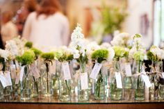 everyone gets a centerpiece :)     #weddings; credit: Ten Four Paper