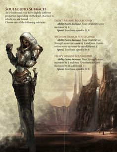 DnD Homebrew — Soulbound Race by Dungeons And Dragons Races, Dungeons And Dragons Classes, Dungeons And Dragons Homebrew, Dungeons And Dragons Characters, Dnd Characters, Fantasy Characters, Fantasy Rpg, Dark Fantasy, Fantasy Weapons