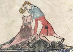 Gettin' frisky in the Romance of Alexander. Oh my, an ankle!