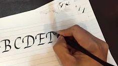 calligraphy alphabet - YouTube