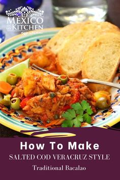 This is a very popular traditional dish. It is a year-round favorite but most enjoyed during the holidays in Mexico. The salty cod combines well with the sweetness of the roasted pepper and tomato sauce. Another great thing about this delicious recipe is that it can be cooked ahead of time. #mexicanfood #holidaydish #mexicanseafood #bacalao