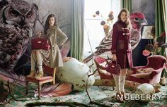 - Some of the images from Mulberry's fall/winter 2011 campaign shot by Tim Walker. The models are Tati Cotliar and Julia Saner. Fashion Shoot, Fashion Art, High Fashion, Tim Walker Photography, Photocollage, Fashion Advertising, Fairy Tales, Fashion Photography, Editorial Photography