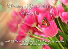 Send tulip blooms with thoughts of love! Free online Thinking Of You Blooms With Love ecards on Everyday Cards Morning Hugs, Morning Wish, Healing Wish, Love Ecards, Wishes For You, Big Hugs, Name Cards, Family Love, Say Hi