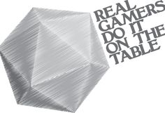 Real Gamers Do It On The Table - Shirt Happens! by Signal Fire Studios