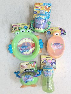 Feeding Nuby 3-d Monster Snack Keeper Reliable Performance Baby
