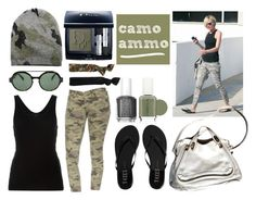 Camo Ammo by istyled on Polyvore featuring polyvore, fashion, style, Alexander Wang, Hudson, Tkees, Chloé, Blue & Cream, Glam Bands, Italia Independent, Christian Dior, Essie, Current/Elliott and clothing