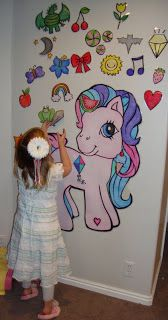 I just bought this same giant pony for Andraya's room. I think I may try this!
