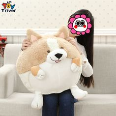 $10.99! Cute Spherical Short Leg Corgi Dog Plush Toy Soft Stuffed Animals for for Children Friend Kids Birthday Gift Triver Toy