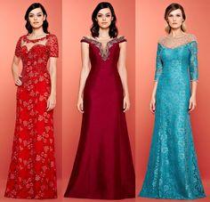 Algumas meninas me pedem para postar opções de vestidos de festa sem decote. Boa parte delas me pedem vestidos para serem madrinhas de casa...