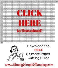 This paper cutting guide will change your life! Download the FREE Ultimate Cutting Guide and start getting the MOST out of every piece of cardstock! This is the perfect tool for any paper crafter, card making, and scrapbooking! Find the download at www.SimplySimpleStamping.com - look for the March 19, 2019 post. #simplysimplestamping #conniestewart #stampinup #papercrafts #cardmaking #cardmakingtools Card Making Tips, Card Making Tutorials, Card Making Techniques, Making Ideas, Making Tools, Paper Cards, Folded Cards, Paper Boxes, One Sheet Wonder