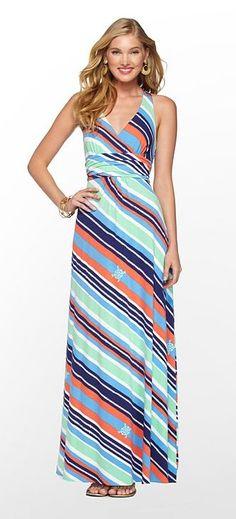 c0ce4f23a8a Lilly Pulitzer Summer  13- Amada Dress in Multi Overboard Stripe  198 Striped  Maxi Dresses