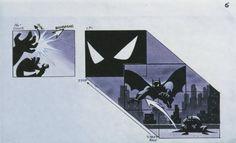 """Le story-board original du générique de """"Batman : The Animated Series"""""""
