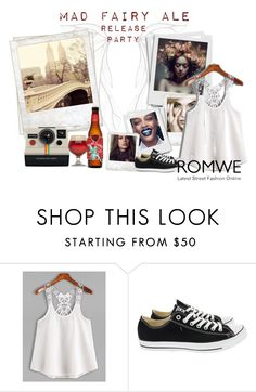 """""""Romwe"""" by cpplaton ❤ liked on Polyvore featuring Converse and Polaroid"""