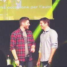 Misha y Jensen siempre buscan la forma de acercarse en las convenciones