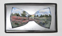 Hand-painted-bow-ties-by-Dublin-artist-John-Kirwan – Vincent Keeling Magritte, Monet, Van Gogh, Dublin, Art History, Poppies, Bow Ties, Miniatures, Bows