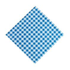 Blue Gingham Luncheon Napkins