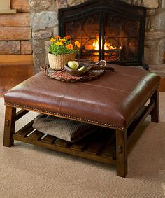 Bon Canyon Leather Coffee Table #zulilyfinds