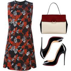 Outfit #627 by novemberdelane on Polyvore featuring moda, Giambattista Valli, Christian Louboutin, Sandro and vintage