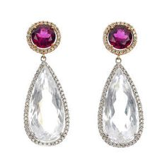 Fellows Topaz, Garnet, and Diamond Earrings £600-800