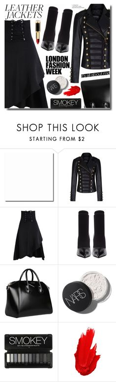 """""""Black time"""" by soks ❤ liked on Polyvore featuring Balenciaga, Givenchy, Grotesk, Voda Swim, Maybelline and L'Oréal Paris"""