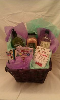84 best relaxation kits images on pinterest gift ideas creative stress relief basket a must for xmas or bday solutioingenieria Choice Image
