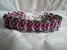 Pink irredescent gun metal and aluminum by galiam34jewelry on Etsy, $25.00