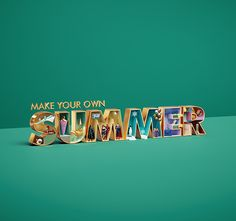 Mall Of The Emirates - Summer campaign 3d Type, Summer Campaign, Brand Campaign, Make Your Own, Mall, Digital Art, Seasons, Creative, Behance