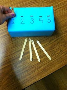 matching numbers task box
