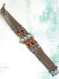 Art Deco Bracelet Beadwork Project - Beading   InterweaveStore.com