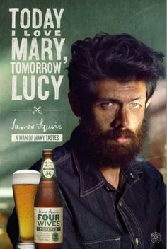 'Today I love Mary, tomorrow Lucy' James Squire ad First Fleet, Beer Poster, Beer Brands, Craft Beer, How To Draw Hands, Campaign, Product Launch, Beer Logos, Hand Drawn