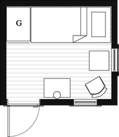 Hermit Hut Floor Plan