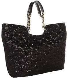 Betsey Johnson High Sequency Tote (Black) | Style I Need