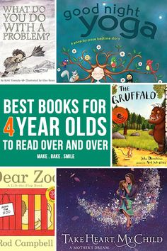 This is an awesome list of the best books for 4-year-olds! The best part is that toddlers, preschoolers, and even older kids will love these read-aloud stories too.