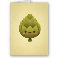 Kawaii Artichoke Card - now available at casakawaii.com