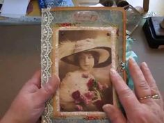 Vintage journal from Cottage rose journal kit. (Sold) - YouTube