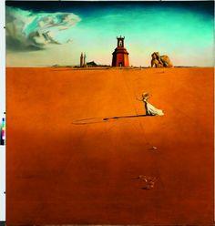 Salvador Dalì, Paesaggio con fanciulla che salta la corda.