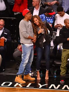 Beyonce and Jay Z Brooklyn Nets - Beyonce and Jay Z Date Night - Cosmopolitan
