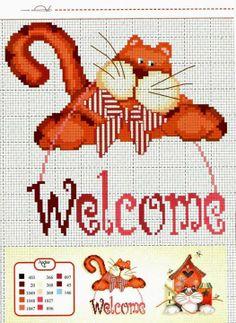 .Katzen Kreuzstich sticken cross stitch cats