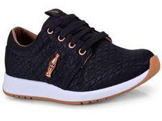 280bdf71cf Tenis Feminino Coca-cola Shoes Cc1441 Preto cobre - Tenis Feminino Coca-cola