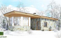 Visillatalot: деревянный гараж из клееного бруса Seppo 40 - фото, проект, планы, описание