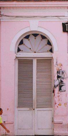 Pink door: Old Havana Cuba. Cool Doors, Unique Doors, Old Havana Cuba, When One Door Closes, Doorway, Entrance Doors, Door Knockers, Closed Doors, Windows And Doors