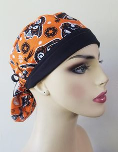 Halloween Scrubs, Scrub Caps, New Print, Hat Making, Hats For Women, Ponytail, Awesome, How To Wear, Beauty