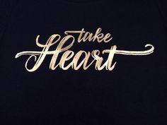 Women's Take Heart T-Shirt – Be Still Clothing Company