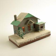 Vintage Mica Putz House